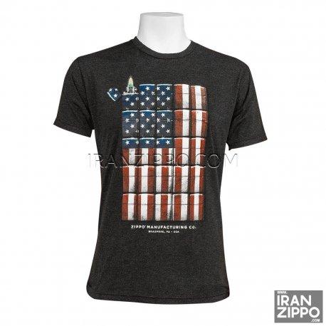 Zippo Black American Flag Tee