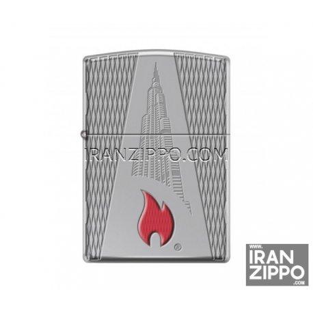 فندک اصل زیپو مدل 167 | برج خلیفه | آرمورکیس